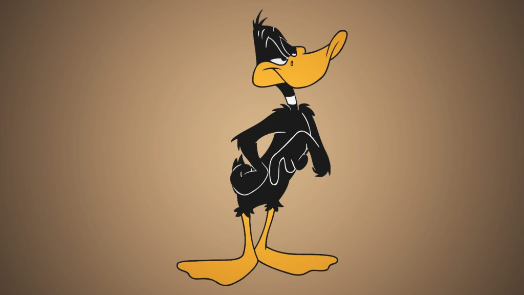 Daffy Duck is the another duck with big eyes.