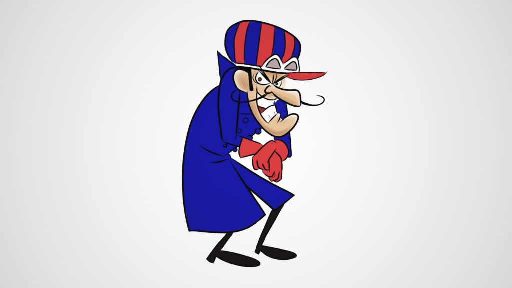 Dick Dastardly is one of the famous cartoon with big nose and villainous nature