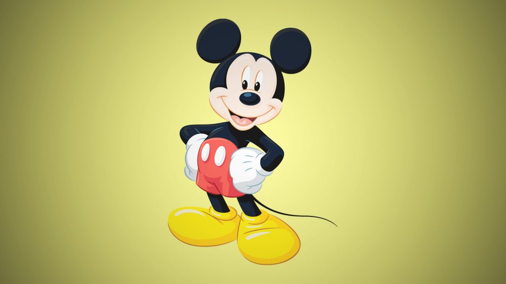 Mickey Mouse is the famous cartoon character with big eyes.