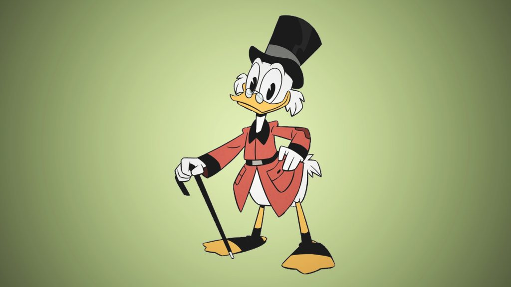 Scrooge McDuck is the big eyes cartoon character that is oldest in our list.