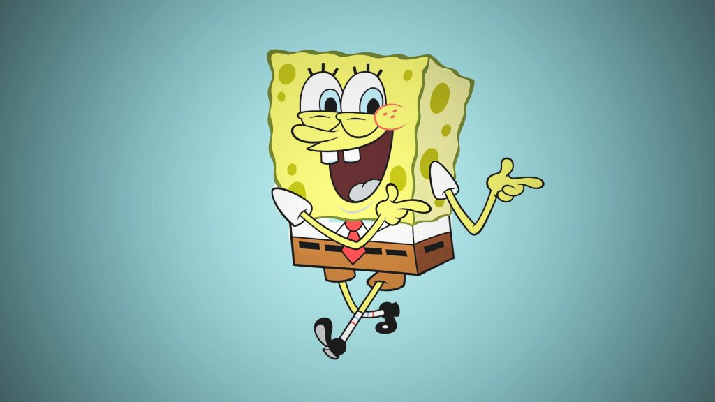 Spongebob Squarepants is the cartoon character that has biggest eyes in our list.