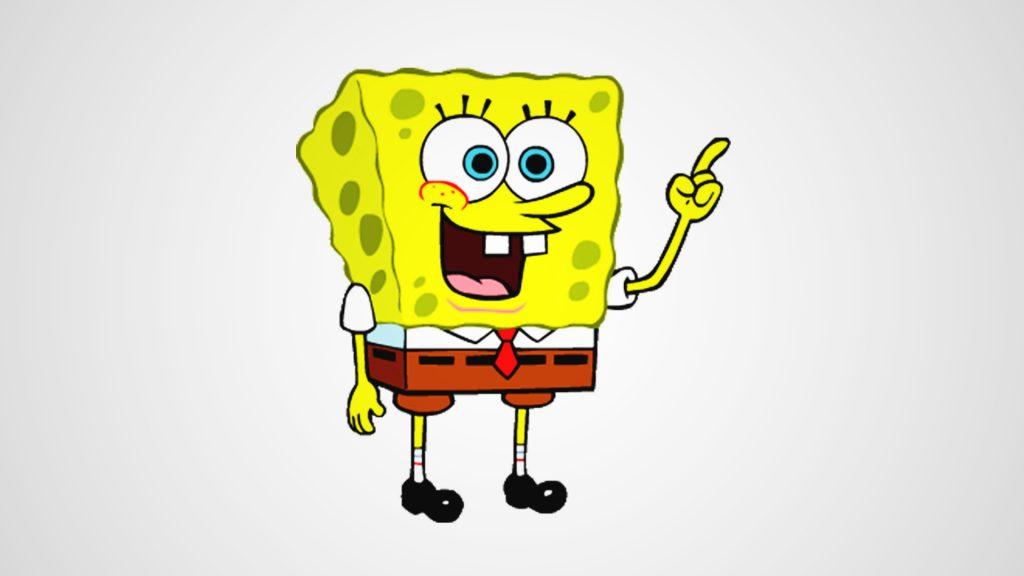 SpongeBob SquarePants is the aquatic cartoon character with long nose